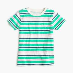 J.Crew Boys' neon striped pocket T-shirt