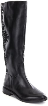 Gianni Bini Valla Embroidered Block Heel Riding Boots