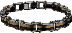 JCPenney FINE JEWELRY Inox Mens Two-Tone Stainless Steel Link Bracelet