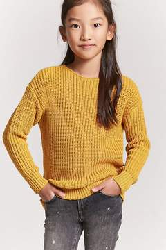 Forever 21 Girls Ribbed Knit Lace-Up Sweater (Kids)