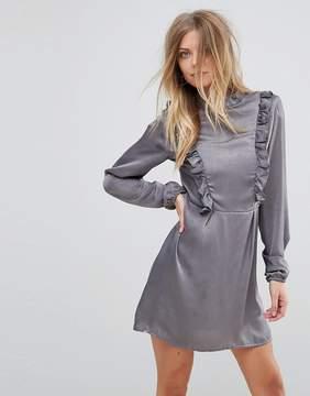 AX Paris Frill Detail Long Sleeve Shift Dress