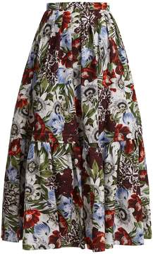 Erdem Leigh floral-print cotton skirt