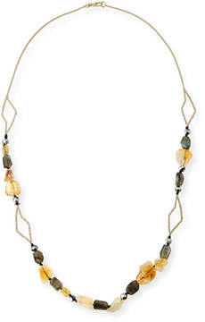 Alexis Bittar Crystal Layering Necklace, 38