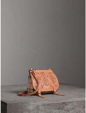 Burberry The Baby Bridle Bag in Leather and Haymarket Check