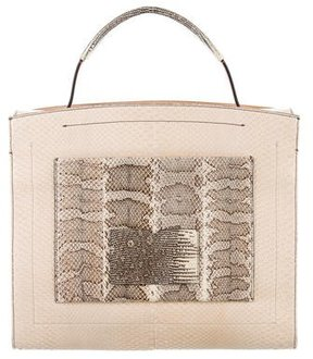 Reed Krakoff Snakeskin Book Bag