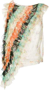 Christopher Kane ruffle archive floral top