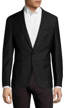 HUGO Arins Slim-Fit Wool Tuxedo Jacket
