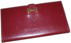 Hermes Béarn leather wallet - BURGUNDY - STYLE