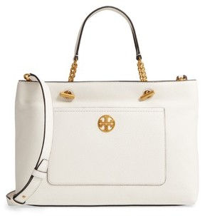 Tory Burch Chelsea Leather Satchel - Ivory