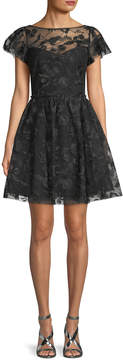 Shoshanna Women's Alize Lace Fit-And-Flare Dress