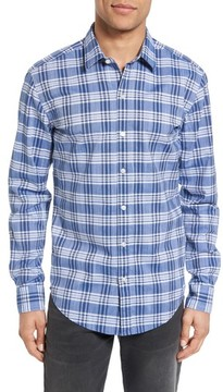 BOSS Men's Robbie Trim Fit Large Check Sport Shirt