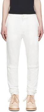 Sacai White Denim Trousers
