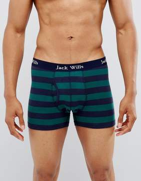 Jack Wills Bridgenorth Stripe Trunks in Navy & Green