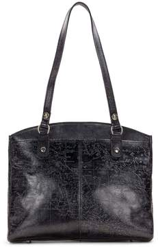 Patricia Nash Metallic Embossed Map Collection Poppy Tote