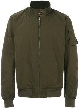 Closed high neck bomber jacket