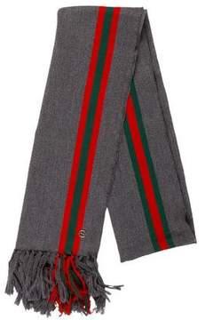 Gucci Wool Web Scarf