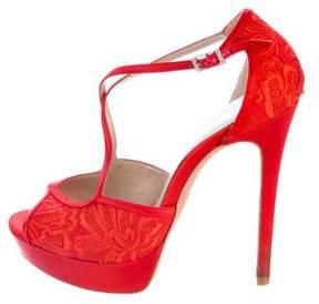 Karen Millen Embroidered Platform Sandals