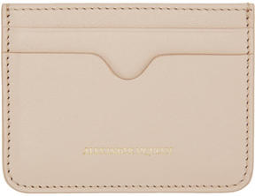 Alexander McQueen Pink Leather Card Holder