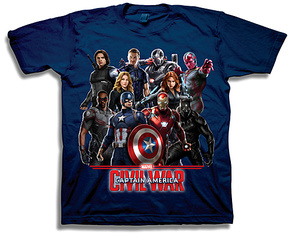 Freeze Navy Captain America: Civil War Tee - Boys