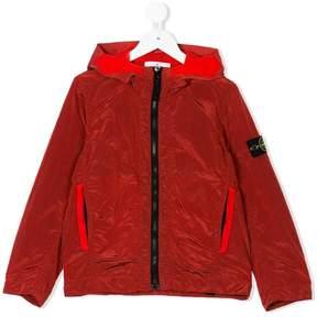 Stone Island Junior hooded zip-up jacket