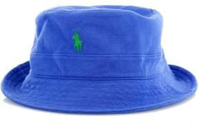 Polo Ralph Lauren Men's Pique Mesh Pony Bucket Hat-CLC Royal-L/XL
