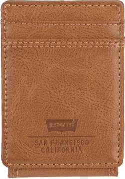 Levi's RFID-Blocking Magnetic Front Pocket Wallet One Size Tan beige