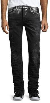 PRPS Demon Paint-Splatter Slim-Straight Jeans