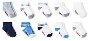 Hanes Toddler Boys' 10pk Athletic Socks - Multi-colored