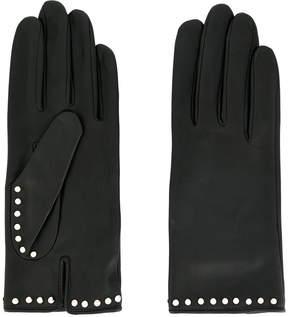 Agnelle studded gloves