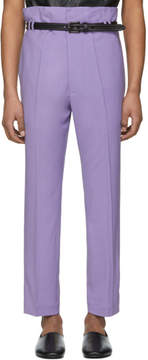 Haider Ackermann Purple Selenite Double-Waisted Trousers