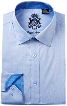 English Laundry Polka Dot Trim Fit Dress Shirt