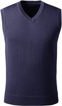Lands' End Lands'end Men's Big Performance Cotton Modal Sweater Vest