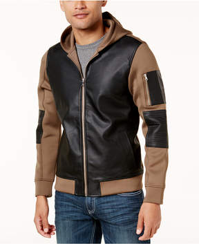 INC International Concepts Men's Mixed-Media Colorblocked Jacket, Created for Macy's