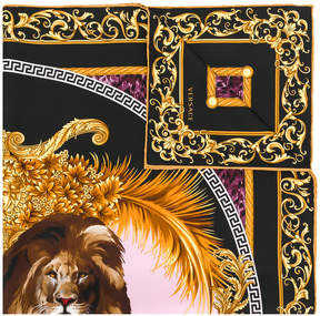 Versace Leo print scarf