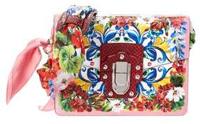 Dolce & Gabbana Lucia Printed Leather & Ayers Scarf Shoulder Bag. - PINK MULTI - STYLE