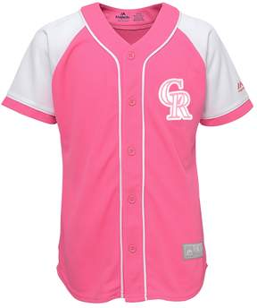 Majestic Girls 7-16 Colorado Rockies Fashion Jersey
