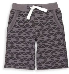 Petit Lem Little Boy's Printed Ribbed-Waist Shorts