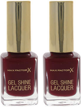 Max Factor Radiant Ruby Gel Shine Nail Polish - Set of Two