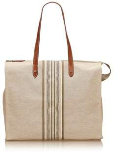 Hermes Pre-owned: Canvas Cabas. - BROWN - STYLE