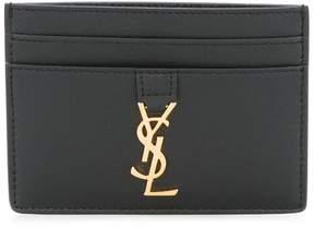 Saint Laurent 'YSL' credit card holder - BLACK - STYLE