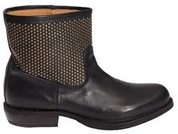 Fiorentini+Baker Women's Black Leather Ankle Boots.