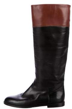 Fratelli Rossetti Leather Round-Toe Knee-High Boots