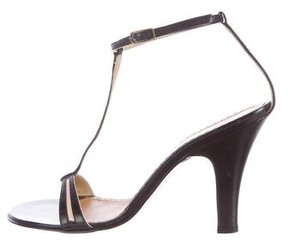Marc Jacobs Leather T-Strap Sandals
