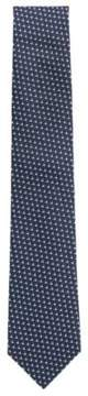 BOSS Hugo Dotted Italian Silk Tie One Size Open Blue