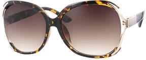 Kay Unger Tortoise Sierra Oversize Round Sunglasses