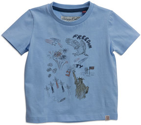 Sovereign Code Freedom Graphic Short-Sleeve Tee, Sky, Size 12-24 Months