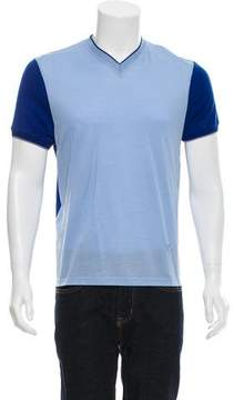 Calvin Klein Collection Colorblock V-Neck T-Shirt w/ Tags