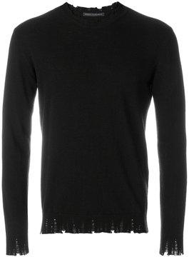 Daniele Alessandrini raw edge sweater