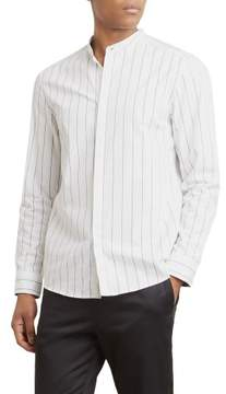 Kenneth Cole New York Reaction Kenneth Cole Stripe Collarband Shirt - Men's