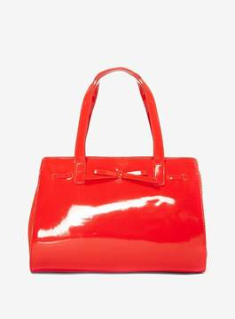 Dorothy Perkins Coral Mini Bow Tote Bag